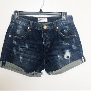 One X One Teaspoon Chargers Denim Shorts